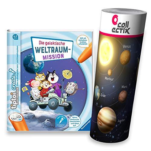 Collectix Ravensburger tiptoi Create Buch - Die galaktische Weltraum-Mission + Planeten Lern-Poster | für Kinder von 6-9 Jahre