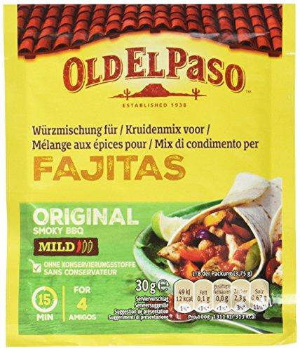 Old El Paso Würzmischung für Fajitas Original Mild, 6er Pack (6 x 30 g)