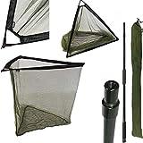 42 INCH GREEN CARP FISHING LANDING NET + PLASTIC BLOCK + STINK BAG TACKLE + 2M