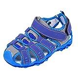 riou Unisex Niños Sandalias con Punta Cerrada Zapatos Sandalias de Vestir en Cuero Zapatillas Verano Zapatos De Bebé Antideslizantes,Zapatos para NiñOs PequeñOs Transpirables 21-36