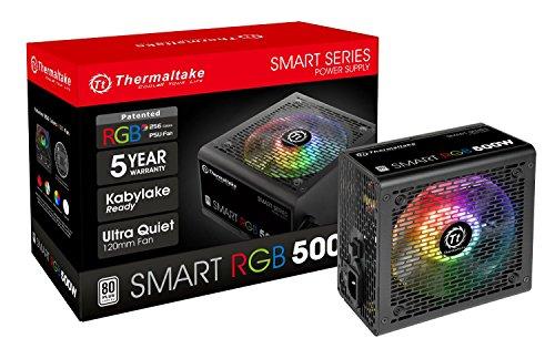Thermaltake Smart RGB 500W 80+ 256-Color RGB Fan...
