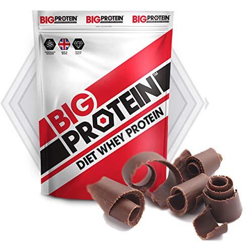 Proteína en polvo 100% whey, perfecta para aumentar masa muscular. Batido de proteína de suero de leche recuperador muscular. Ideal para musculación y dietas para adelgazar (Chocolate)