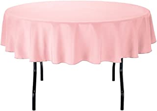 Gee Di Moda tablecloths, GDMPRD70P, Polyester, Pink, 70 Inch Round