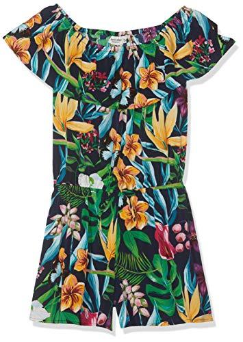 NAME IT Nkfvinaya SS Playsuit H Pantalones de Peto, Multicolor (Dark Sapphire Dark Sapphire), 158 para Niñas