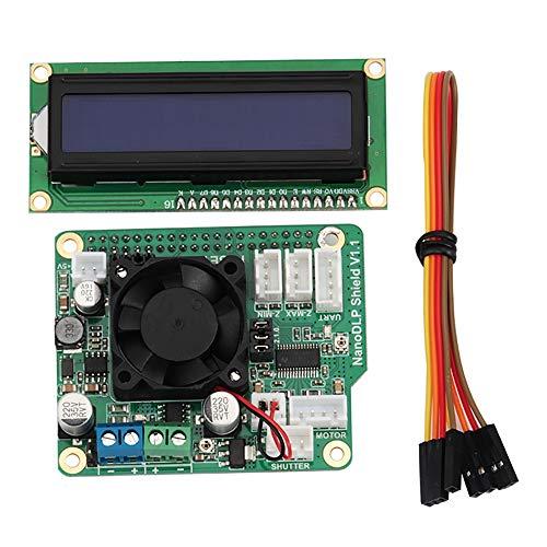 Mifive per Scheda di Espansione Fotopolimerizzabile NanoDLP Shield V1.1 + 1602un Display IIC / I2C Set Accessori per Stampante 3D