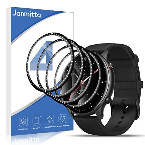 Janmitta para Amazfit GTR 2 Protector de Pantalla 4 Piezas,