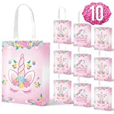 xo, Fetti Unicorn Party Bags, Gift Favor Bags, Goodie Bags - 10 Pack - Reusable Tote...