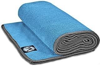 Youphoria Hot Yoga Towel, Non Slip, Super Absorbent, Plush Microfiber Yoga Mat Towel for Hot Yoga, Bikram and Yoga Mat Grip, Washable, 24 inches x 72 inches