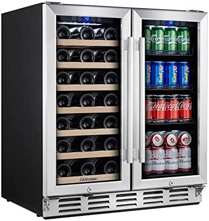 Kalamera Wine and Beverage Refrigerator 30 inch with Glass Front Door Beer Wine Soda And Drink product image