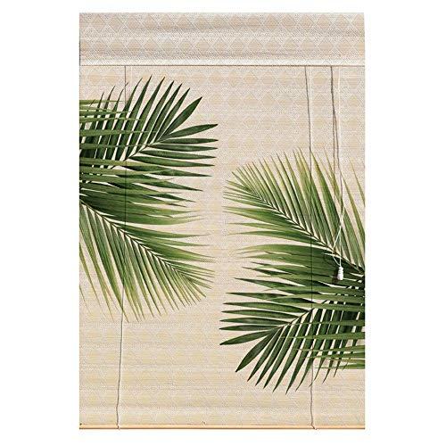 PMTX-Bamboo curtain Bambusrollos, Vorhänge Bambusvorhänge Insektenschutzvorhänge Balkon Wohnzimmer Teestube Sonnenschutzvorhänge, 20 Größen erhältlich (Size : 80x180cm(31.4