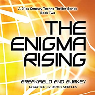 The Enigma Rising audiobook cover art