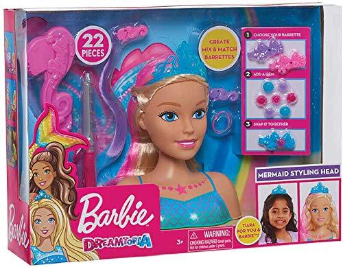 Giochi Preziosi Barbie DREAMTOPIA Testa da PETTINARE Styling Head