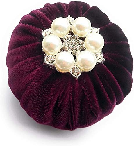 Great Price! 2 Burgundy Velvet Emery Pincushions - Keep Your Needles Clean & Sharp