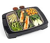 Baibao 5-en-1 Grill, 1500 W Grill eléctrico Desmontable, Mármol antiadherentes Parrillas de Barbacoa Revestimiento