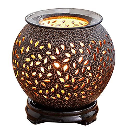 ZTM Brûleur d'encens en céramique électrique, minuterie de brûleur d'huile