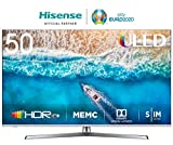 HISENSE H50U7BE TV LED Ultra HD 4K, Dolby Vision HDR, Dolby Atmos, Unibody Design, Smart TV VIDAA U3.0 AI, Ultra Dimming, Triple Tuner