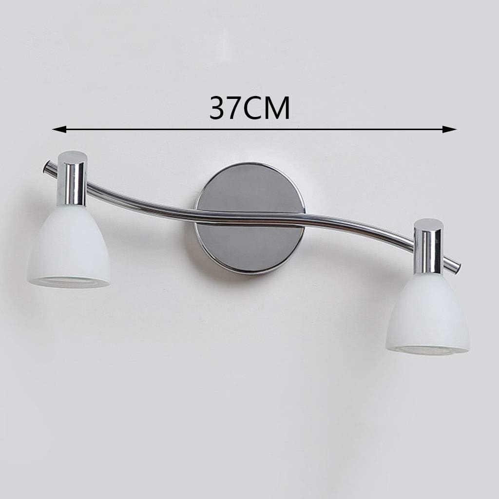 A-ZHP Spiegellampen Spiegel Frontleuchte LED Badezimmer Schminktisch Lampe Schlafzimmer Wohnzimmer Flur Wandleuchte Glas [Energieklasse A ++] (Color : White light-37cm) Warm Light-37cm
