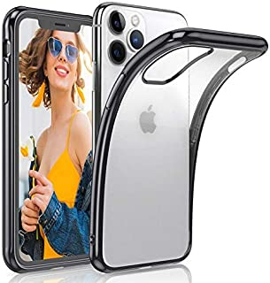 LOHASIC iPhone 11 Pro Max Case, Clear Thin Slim Transparent Back Cover Soft Flexible TPU Bumper Non-Slip Grip Full Body Shockproof Protective Cases for Apple iPhone 11 Pro Max (2019) 6.5 inch - Black