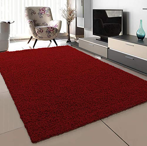 SANAT - Alfombra (Polipropileno, 80 x 150 cm), Color Rojo