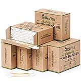 1200 Bambus Wattestäbchen (6 x 200 Stück) – 100% Plastikfrei, Biologisch Abbaubar, Vegan &...