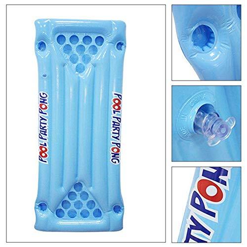 LXDDP Aufblasbare Pool Bier Tischtennisplatte.Aufblasbare Luftmatratze Bett Bier Pong Spiel Billardtisch Party Swimmingpool Wasser schwimmende Trinkliege Matte für Erwachsene Trinkspiel