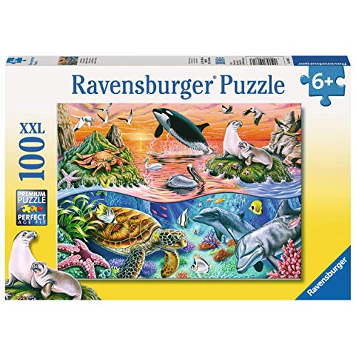 Ravensburger Kinderpuzzle 10681 - Bunter Ozean - 100 Teile