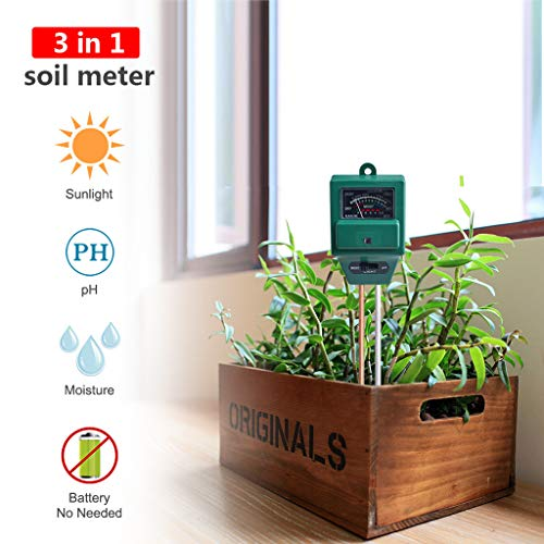 Affordable Beyonds Plant Monitor, 3 in 1 Digital Soil Moisture Meter Tester pH Acidity/Temperature/S...