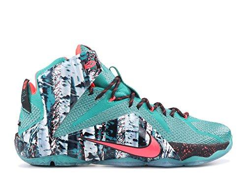Nike LeBron XII Mens Basketball Shoes 707558-363 Emerald Green Hyper Punch-Dark Emerald 11 M US