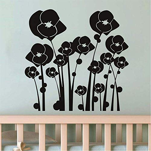 Wall Decor Decals DIY Self Adhesive Beautiful 3D Flower Window Stickers Strange Flowers Home Decoration Living Room Baseboard Wall Decals Tv Wall Beautiful Decoration