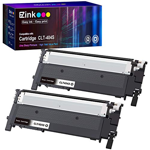 E-Z Ink (TM) Compatible Toner Cartridge Replacement for Samsung 404 404S CLT-K404S to use with Xpress C430 C430W C480 C480FW Xpress SL-C430W SL-C480FW Printer (Black, 2 Pack)