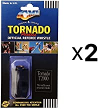 acme Tornado Plastic Pealess Official Referee Coach Whistle T2000 (2-Pack)