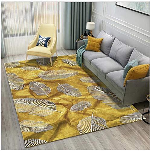 Mmxhn Feather 3D Printing Carpet Polyester Carpets For Living Room Non-Slip Anti-Wrinkle Bedroom Decor Rug Bedside Carpet-200X300Cm
