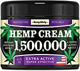 Hemp Cream 1,500,000 4oz for Pain Relief - Made in USA - Joint, Muscle, Arthritis & Back Pain Relief Natural Cream - Aloe, Menthol & Hemp Oil for Pain Relief - Hemp Oil Cream for Inflammation Relief