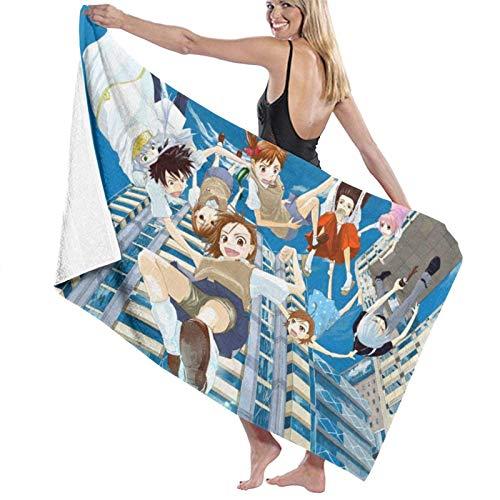 wusond Toalla de baño A Certain Magical Index Toalla de baño Toalla de natación Suave de Microfibra Grande para Adultos para Viajes