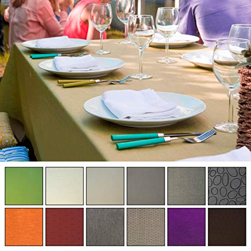 Mistral Home Textiltischdecke Tischdecke eckig fleckenabweisend wasserabweisend Teflon (Apfelgrün 170x300 cm)