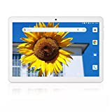 Tablet 10 inch, Android 9.0 Pie, 2GB RAM, 32GB Storage, 3G Phablet, Quad-Core Processor, Dual SIM Card Slots and Cameras, WiFi, Bluetooth - Silver