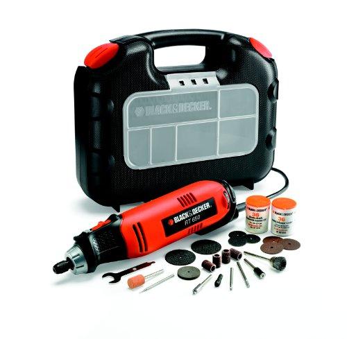 BLACK+DECKER RT650KA-QS - Multiherramienta oscilante, 90 W, con 87 accesorios y maletín