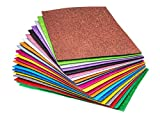 Glitter Foam Handicraft Letter Size Sheets 8.5 x 11 Inches (20 Pack) Self Adhesive - Colorful Crafting Sponge for DIY Projects, Classroom, Parties and More | Thick and Soft Paper, 20 Assorted Colors
