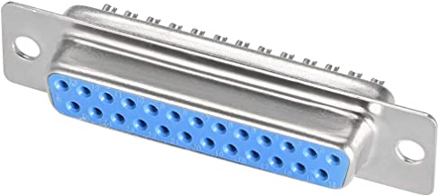 uxcell D-sub Connector DB25 Female Socket 25-pin 2-Row Port Terminal Breakout for Mechanical Equipment CNC Computers Blue Pack of 10