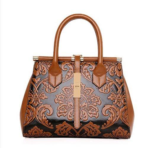 Rucksack Art Und Weise Geprägt Handtaschen Tide Beutel Großer Beutel Schulter Handtasche Farbe Hell Und Elegant Luxus Klassische Atmosphäre Retro Wind Blau