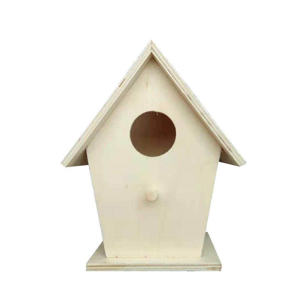 Toyvian - Caja nido de madera para pájaros y golondrinas de cría para decoración de exteriores (color madera): Amazon.es: Hogar