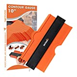 MUTANO Contour Gauge Duplicator (10 Inch Lock) - Ruler for Corners, Woodworking Templates, Tiles and Laminate - Tool for DIY Handyman, Construction