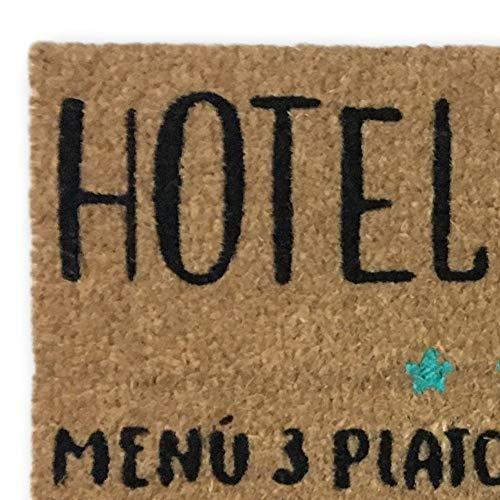 koko doormats felpudos Entrada casa Originales, Fibra de Coco y PVC, Felpudo Exterior Hotel Abuelos, 40x60x1.5 cm   Alfombra Entrada casa Exterior   Felpudos Divertidos para Puerta