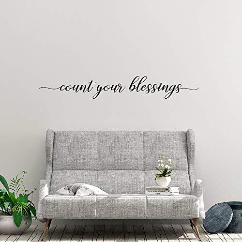 yaonuli Fashion Count Your Blessings Tekst Home Decor Kinderen Kamer Decor Muursticker Vinyl Mural