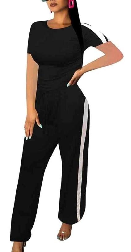 差別恐怖抵抗するレディース2ピース衣装スポーツ半袖Tシャツトップロングパンツトラックスーツ