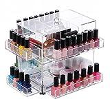 Ikee Design Clear Acrylic Rotating Makeup Organizer