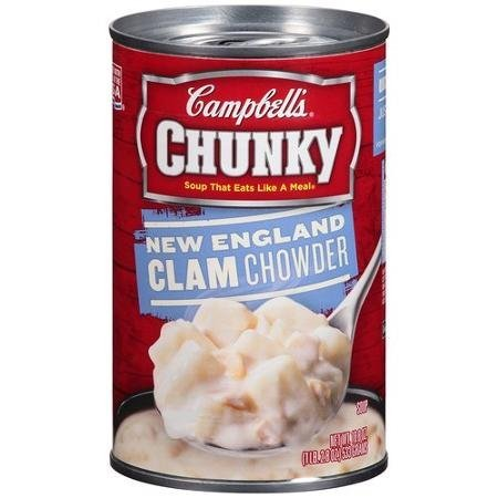 Campbell's Chunky Soup New England 2021 autumn and winter new Chowder Regular store Clam Pa Ounce 18.8