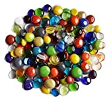 Miracolors - 1 Lb - Mixed Colors Glass Gems - Vase Fillers (12-19mm, Approx. ½- ¾)