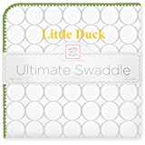 SwaddleDesigns Ultimate Winter Swaddle, X-Large Receiving Blanket, Made in USA, Premium Cotton Flannel, University of Oregon, Little Duck (Mom's Choice Award Winner)