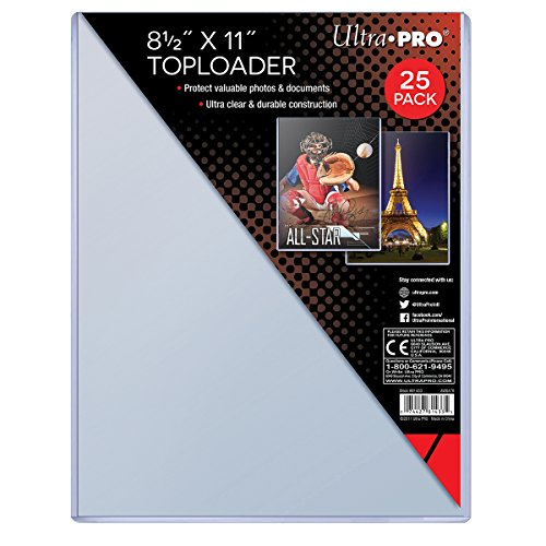 Price comparison product image Ultra Pro Clear Toploader 8-1 / 2-Inches x 11-Inches (25-Count)